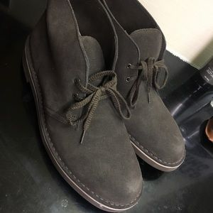 Clarks Brown Suede Chukka Boots for men
